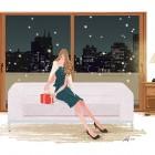 夜景 ソファ プレゼント ドレス ワンピース 女性 ファッション