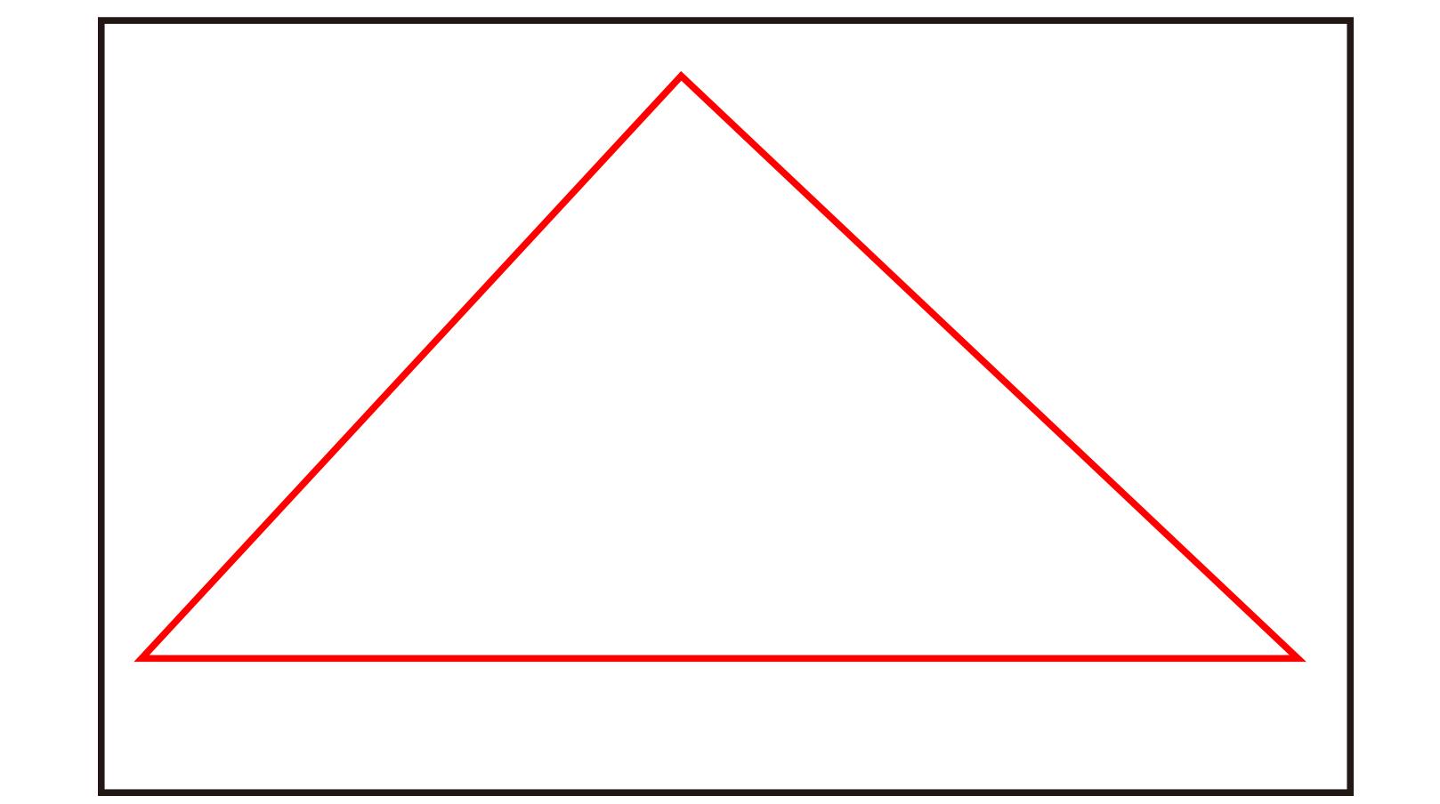 イラストの三角構図
