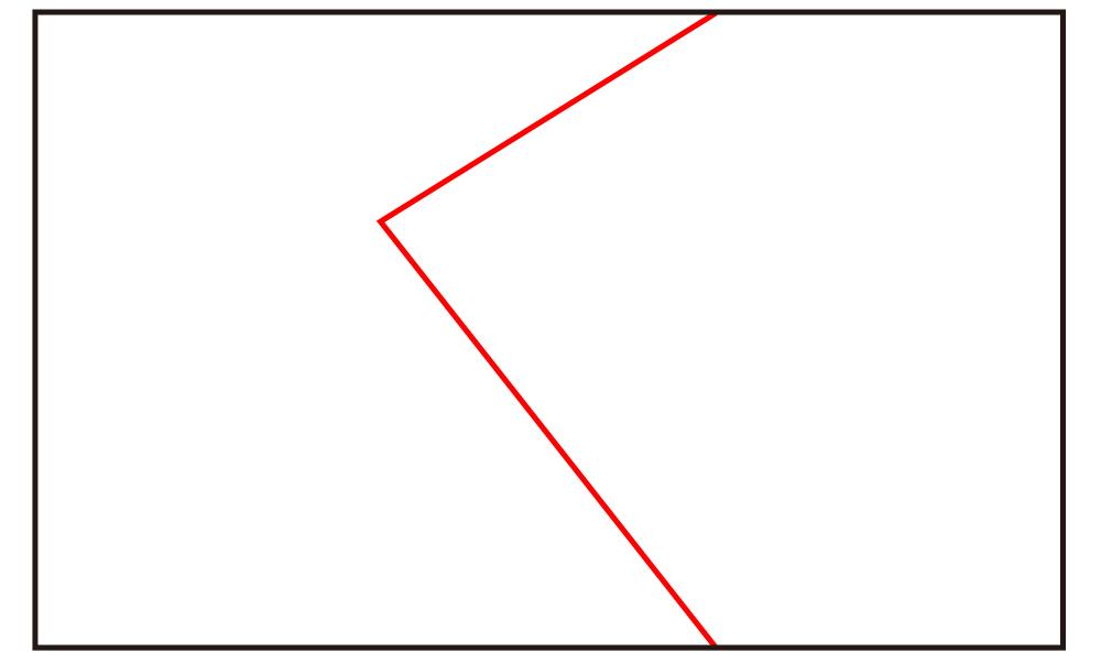 イラストのジグザグ構図