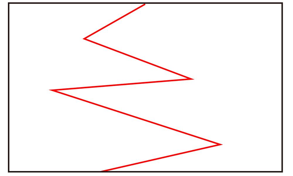 イラストのジグザグ構図2