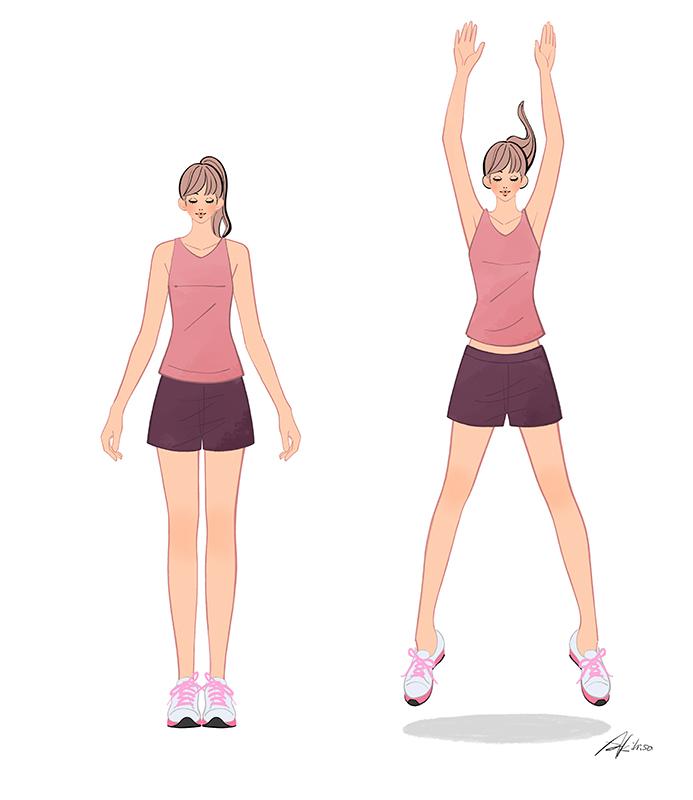 跳躍のエクササイズ 体操 運動