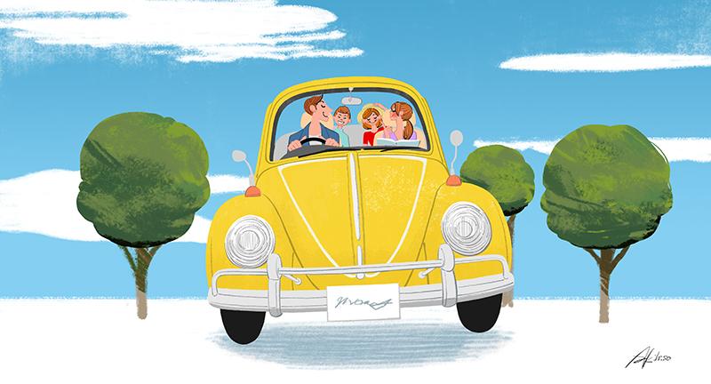 家族でドライブ,親子,子供,旅行,休日,レジャー