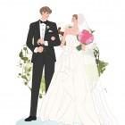 ウェディング,新郎新婦,結婚,ウェルカムボード,イラストのご依頼