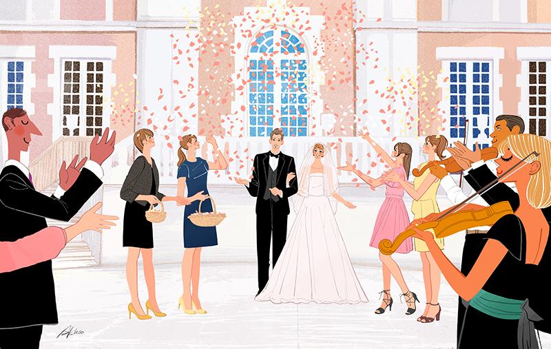 ウェディング,結婚式,イラスト制作のご依頼