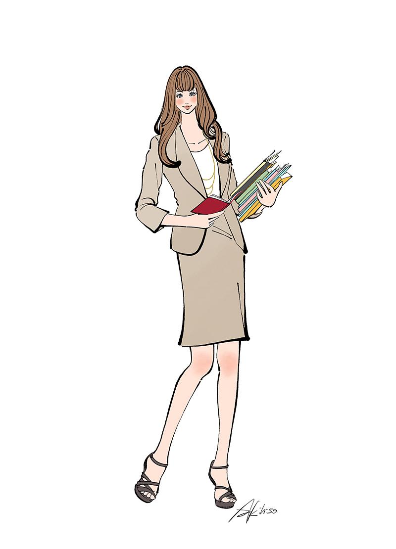 作品NO.iof137 プースカフェジョブ,働く女性,子育て,ママ,スーツ,仕事