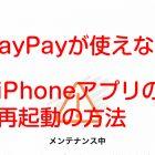 PayPayが使えない_iPhoneアプリの再起動の方法