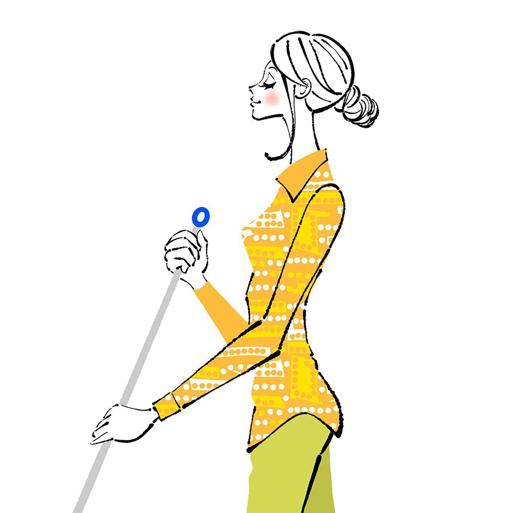 年末に大掃除する女性のイラスト/頭も整理してすっきりと新年を迎えよう