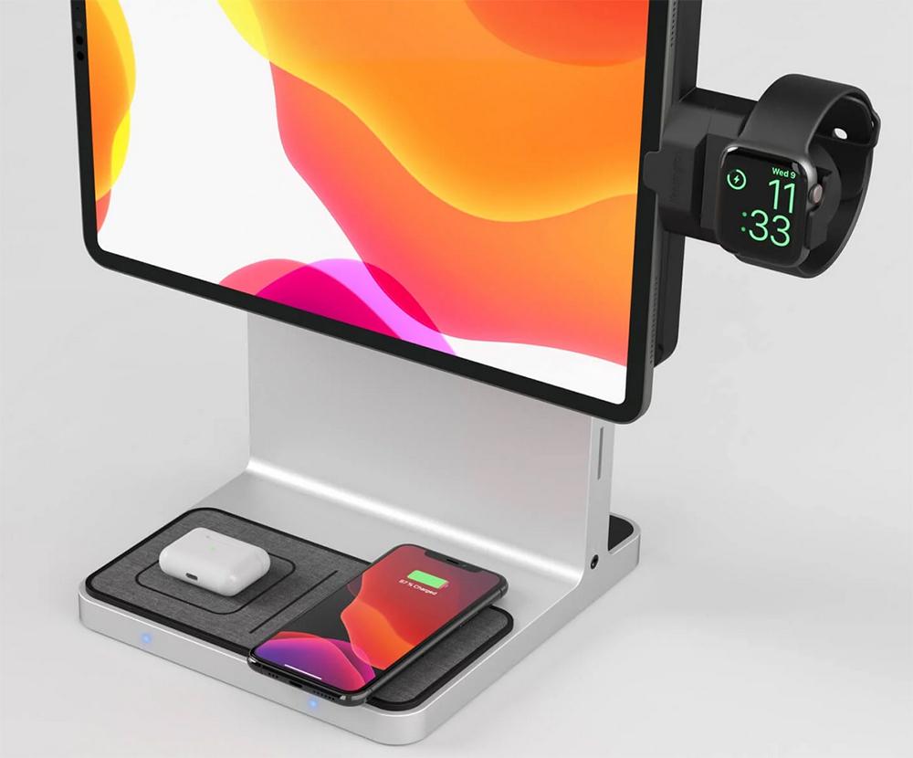 iPadスタンド_ワイヤレス充電を2つ搭載