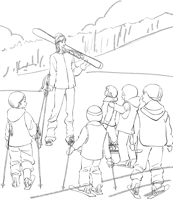 上村愛子さん・イメージイラスト/スキー教室 イラスト
