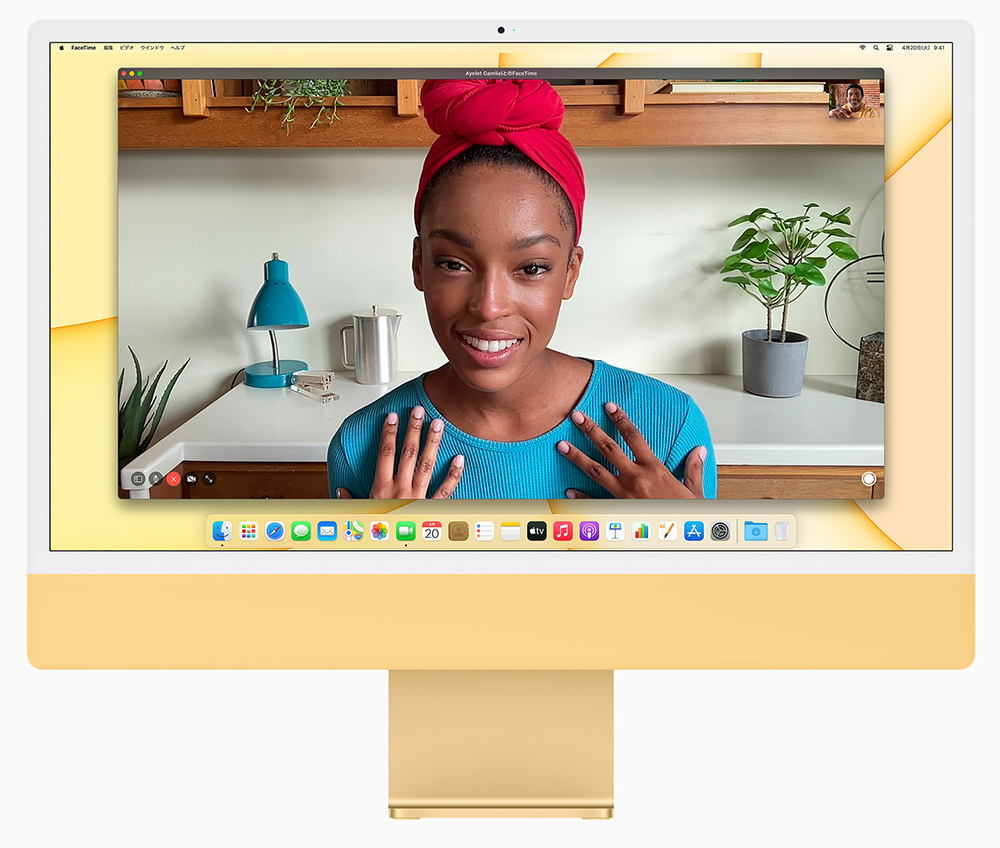 M1チップ搭載・新型iMac24インチ カメラとマイク